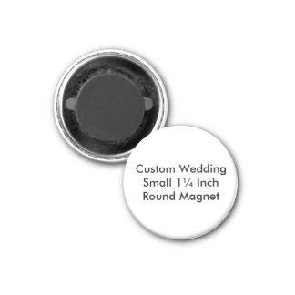 Custom Wedding Small 1¼ Inch  Round Magnet Refrigerator Magnet