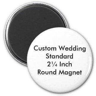 Custom Wedding Standard 2¼ Inch  Round Magnet