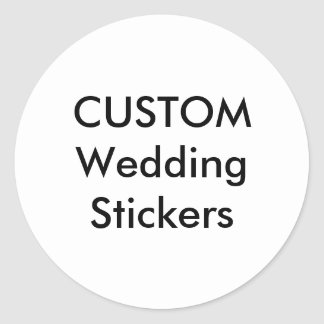 "Custom Wedding Stickers 3"" ROUND GLOSSY (6 pk.)"