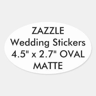 Custom Wedding Stickers OVAL MATTE (4 pk.)
