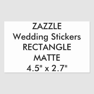 Custom Wedding Stickers RECTANGLE MATTE (4 pk.)