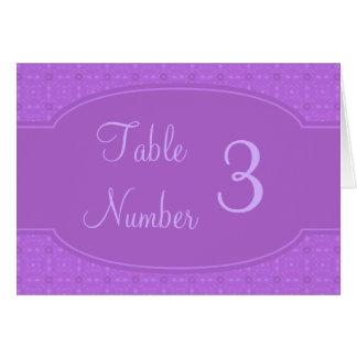 Custom Wedding Table Number Cards