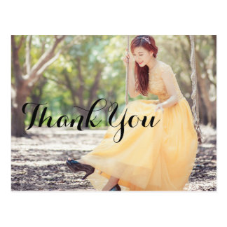 Custom Wedding Thank You Photo Card