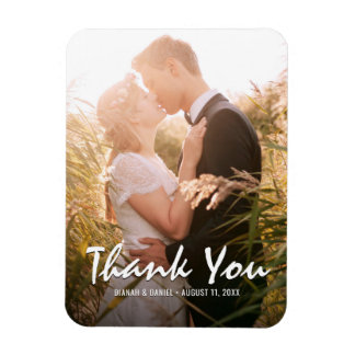 Custom Wedding Thank You Photo Fridge Magnet