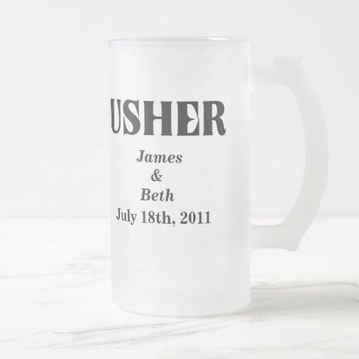 Custom Wedding Usher Beer Mug