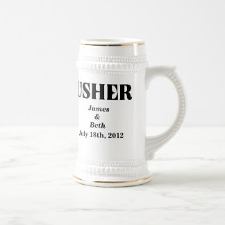Custom Wedding Usher Beer Stein