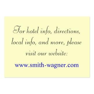 Custom Wedding Webpage Cards Business Card