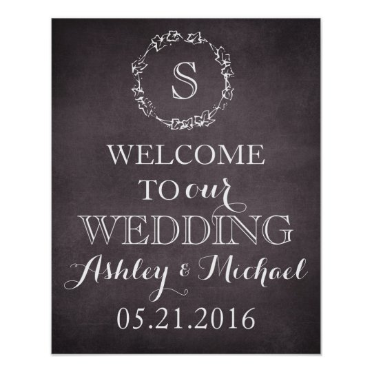 Custom Welcome bride groom name date wedding sign