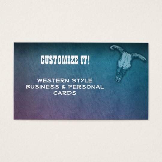 CUSTOM Western style business & Personal Cards