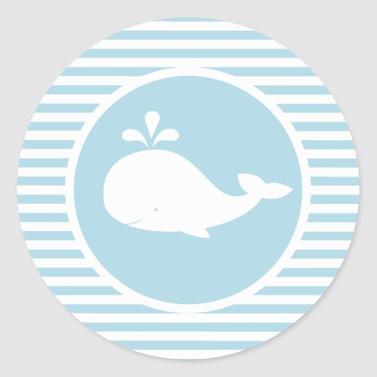 Custom Whale Birthday Sticker