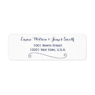 Custom White And Blue Personalised Address Labels
