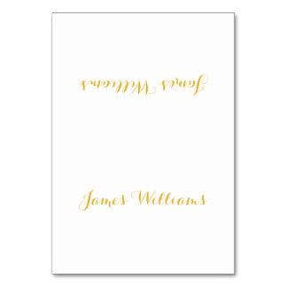 Custom White And Gold Place Setting Cards Table Cards