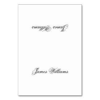 Custom White Black Simple Place Setting Cards Table Card