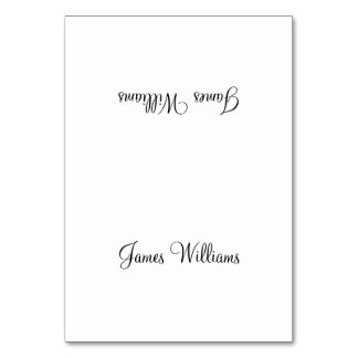 Custom White Black Simple Place Setting Cards Table Cards