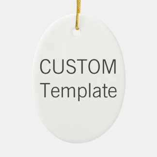 Custom White Ceramic OVAL Christmas Tree Ornament