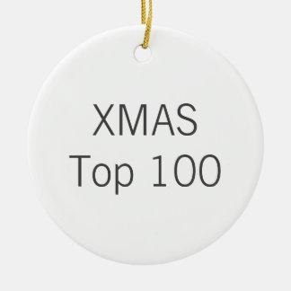 Custom White Ceramic ROUND Christmas Tree Ornament