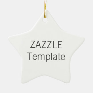 Custom White Ceramic STAR Christmas Tree Ornament