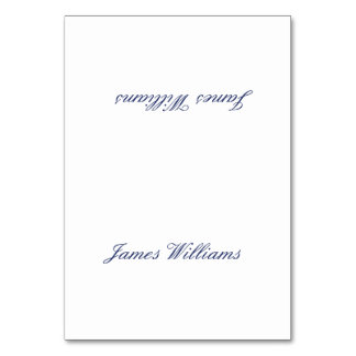 Custom White Navy Blue Simple Place Setting Cards Table Card