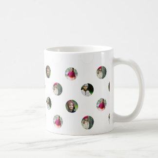 Custom White Photo Dot Mug