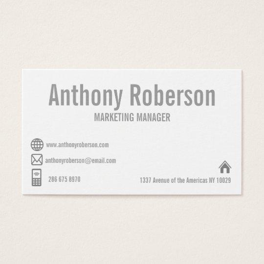 Custom white template social media business card