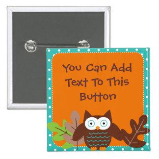 Custom Whoot Owl Button