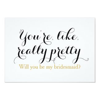 Custom will you be my bridesmaid funny wedding 13 cm x 18 cm invitation card