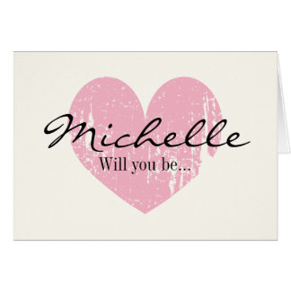 Custom Will you be my bridesmaid request cards