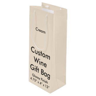 Custom Wine Gift Bag (Glossy) Cream