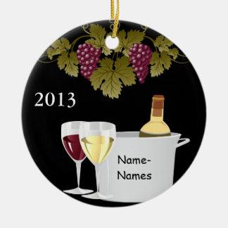 CUSTOM WINE LOVERS 2014 ORNAMENT GIFT