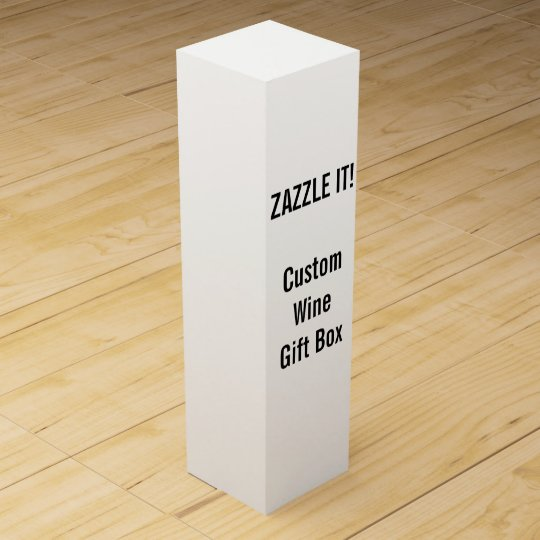 Custom Wine or Champagne Gift Box Blank Template