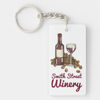 Custom Wine Shop Bar Winery Promotional Keychain