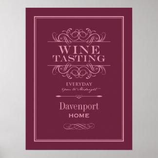 Custom Wine Tasting Art Print - Home Decor