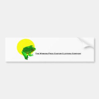 Custom winking frog logo bumper sticker