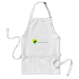 Custom winking frog logo standard apron