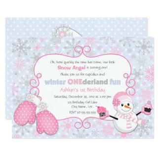 Custom Winter One-derland 1st Birthday 13 Cm X 18 Cm Invitation Card