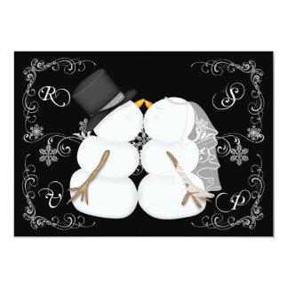 Custom Winter Wedding RSVP Cards