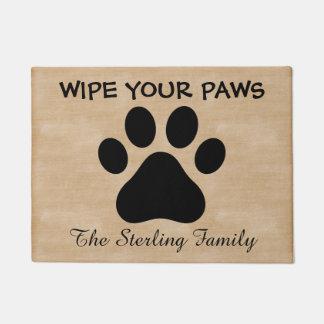 Custom Wipe Your Paws Doormat