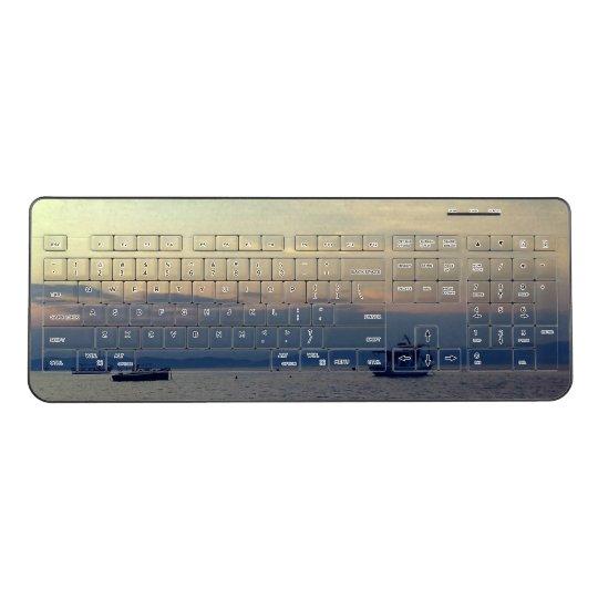 Custom Wireless Keyboard Boat Summer