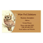 Custom Wise Owl Solutions Business Card