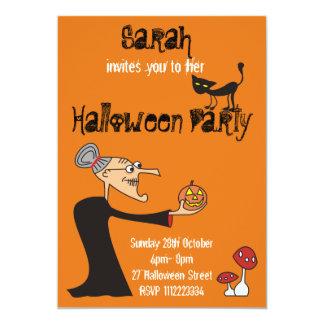 Custom Witch Halloween Party Invitation