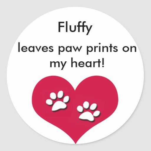 Custom with your pet's name sticker