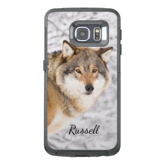 Custom wolf in a winter forest looking for a prey OtterBox samsung galaxy s6 edge case