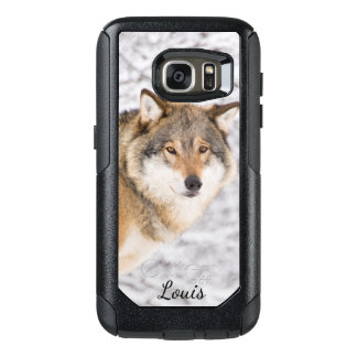 Custom wolf in a winter forest looking for a prey OtterBox samsung galaxy s7 case