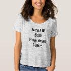 Custom Women's Bella Flowy Simple T-shirt Blank