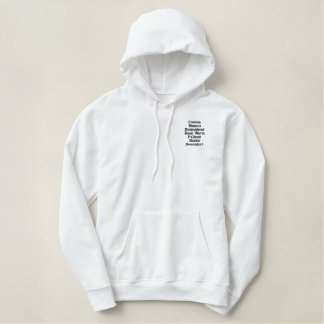 Custom Womens Embroidered Warm Hoodie Sweatshirt