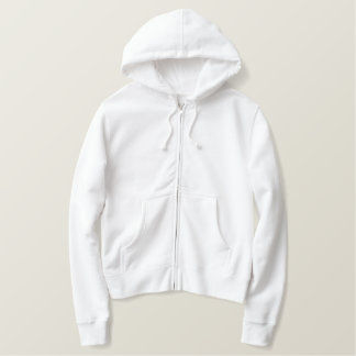 Custom Women's Embroidered Zip Hoodie