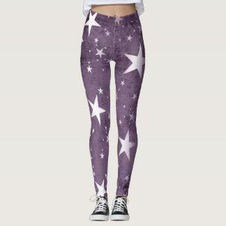 Custom women's leggings with stars