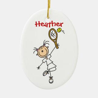 Custom Womens Tennis Christmas Ornament