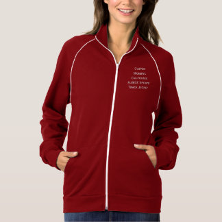Custom Womens Warm Fleece Sports Track Zip Jacket