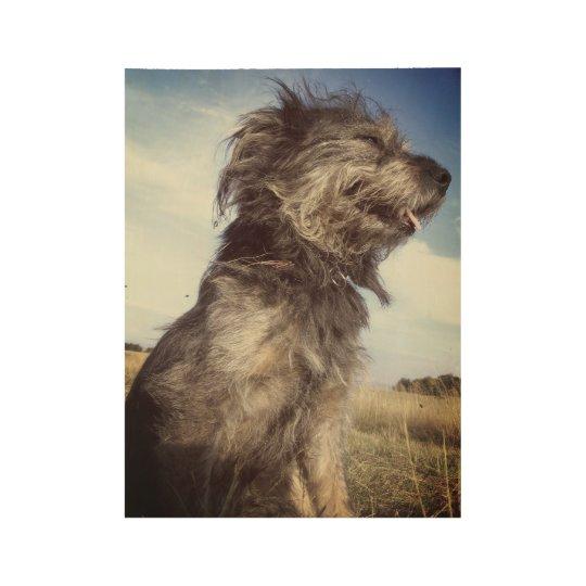 Custom Wood Poster, Dog Photo Wood Poster